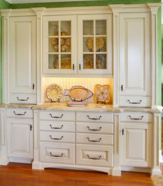 Cabinetry Made To Look Like A Built In China Cabinet Hutch Love It
