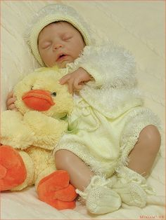 Little ducky...Melissa, silicone baby by Eva Helland