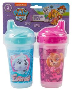 Nickelodeon Paw Patrol Skye and Everest Sippy Cups Pink 2 Count. Is F  998aef3d3e9c