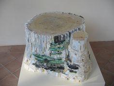 Second edition International Contemporary Mosaic Festival, Ravenna (RA), Italy, 2011.  Kate Jessup, USA, Aspen Stump, 2011