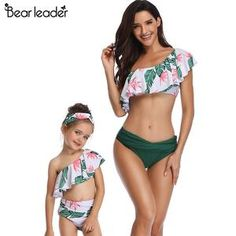 6ee4f76634 Bear Leader mother and daughter swimsuit mommy and me swimwear family  matching clothes outfits - Peaceloversart