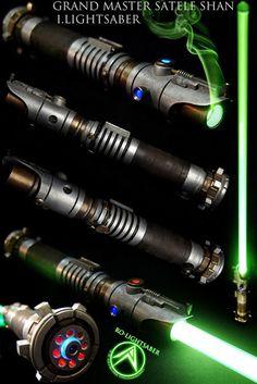 Grand Master Satele Shan I. Lightsaber Design, Custom Lightsaber, Lightsaber Hilt, Star Wars Fan Art, Star Wars Concept Art, Star Trek, Sabre Laser Star Wars, Satele Shan, Rpg