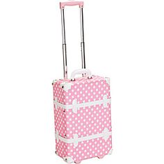 """Rockland Luggage London 19"""" Rolling Trunk - Pink Dot - via eBags.com!"""