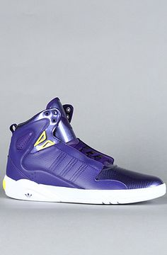 $110 The Roundhouse Mid 2.0 Sneaker in Purple, White, & Prime Yellow by adidas at karmaloop.com #adidas - Use repcode SMARTCANUCKS at the checkout for 20% OFF your purchase on Karmaloop.com