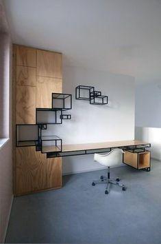 Ideas Office Furniture Design Table Interiors For 2019 Office Furniture Design, Apartment Furniture, Home Office Design, Home Interior Design, Home Design, Office Designs, Office Ideas, Workspace Design, Office Workspace