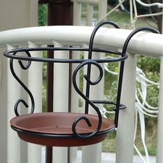 Details about Balcony Plant Hanging Racks Creative Round Flower Pot Railing Fence Garden Balcony Plant Hanging Racks Creative Round Flower Pot Railing Fence Garden Iron Furniture, Decor, Balcony Decor, Wrought, Garden Furniture, Wrought Iron Decor, Hanging Plants, Hanging Racks, House Plants Decor