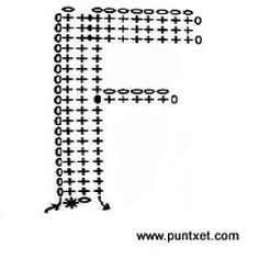 Alfabeto 2 crochet - F Crochet Alphabet, Crochet Letters, Patron Crochet, Crochet Gratis, Letters And Numbers, Crochet Projects, Crochet Ideas, Crochet Stitches, Diy And Crafts