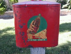Vintage Coca Cola Picnic Cooler Ice Chest