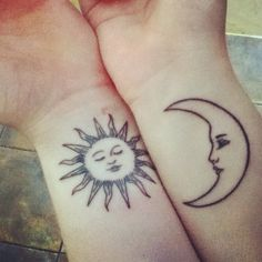 My second tattoo that I got with my best friend. Mine is the moon,