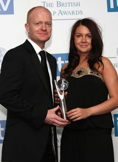 (Sept 17 2020) Jake Wood leaving EastEnders after 15 years as Max Branning (2008) Eastenders' Jake Wood And Lacey Turner With The Best Storyline Award At The British Soap Awards 2008 At Bbc Television Centre, Wood Lane, London, W12. (Photo by Mark Cuthbert/UK Press via Getty Images)
