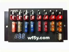 WF5Y IMPP-7 Power Distributor - Think multiple outlet strip for ham radio, but with each socket fused. 7 Anderson power pole outputs with Digital Voltmeter, USB Charger Outlet, and Overvoltage Protection. Cost a wee bit more than the popular competitor, but includes a volt meter, alarms and a 5vdc USB socket.
