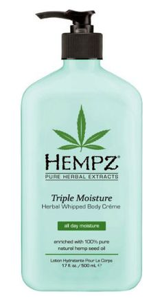 Hempz Triple Moisture Whipped Body Creme is the latest from Hempz! As with all Hempz product it is naturally enriched with 100% Pure Natural Hemp Seed Oil but this new lotion is fortified with their exclusive all day Triple Moisture Complex.