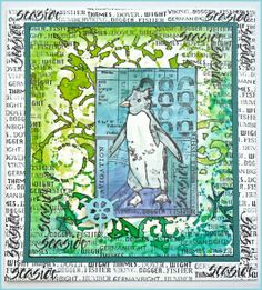 Punky Penguin card by Helen using CI-392