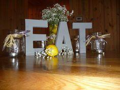 Wedding food table.  #country #wedding #yellow #lemon