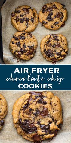 Air Fyer Recipes, Air Fryer Recipes Dessert, Air Fryer Oven Recipes, Baking Recipes, Ninja Recipes, Make Chocolate Chip Cookies, Air Fried Food, Air Fryer Healthy, Cookies Et Biscuits