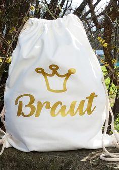 Zauberhafter Rucksack im Retrostyle aus Baumwolle für den Junggesellinnenabschied! Hier passt alles rein, was die Braut beim Shopping mit ihren Freundinnen, Clubbing oder einem JGA-Streifzug braucht!