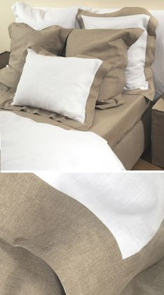 Pure and Simple 100%   Linen bedding by Libeco