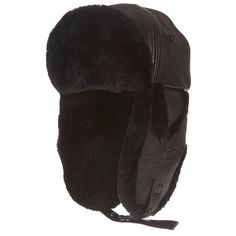 Blacked Out Lambskin Aviator Cap