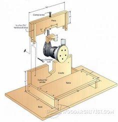 DIY Edge Sander - Sanding Tips, Jigs and Techniques   WoodArchivist.com