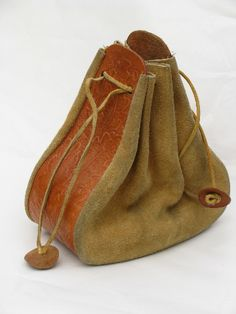 Photo of 60s hippie vintage Indian medicine pouch tooled leather bag purse #1