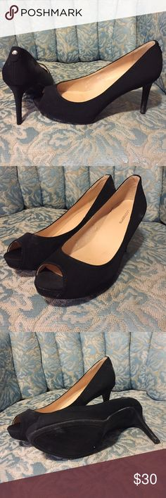 MAKE OFFER ! Black high heels Sexy black high heels for any occasion! Only wore once. Liz Claiborne Shoes Heels