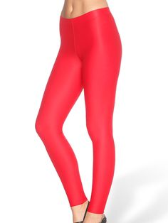 Matte Red Leggings - LIMITED (AU $40AUD) by Black Milk Clothing