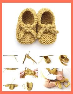 Amazing Knitting provides a directory of free knitting patterns, tips, and tricks for knitters. Easy Baby Knitting Patterns, Baby Booties Knitting Pattern, Knit Baby Shoes, Knit Baby Booties, Crochet Shoes, Baby Girl Shoes, Easy Knitting, Baby Bootie Pattern, Knitting Wool