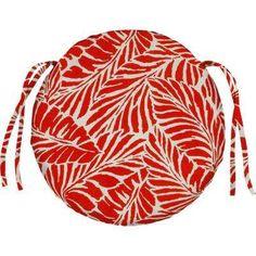 Malkus Fresco Salsa Round Outdoor Seat Cushion