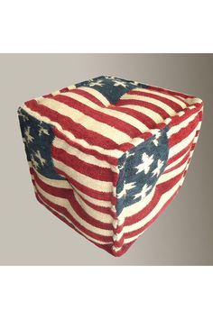 USA - Fabric Square Cushion. NOT A TUTORIAL. Just an idea of what I'd like to make.