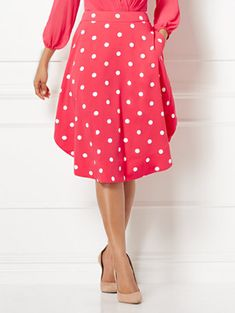 ac23cddbe2f Shop Eva Mendes Collection - Kaley Dot-Print Full Skirt. Find your perfect  size