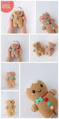 Crochet animals 626492998150546136 - Amigurumi Gingerbread man free crochet pattern – Free Amigurumi Patterns Source by sylvielengele Crochet Kawaii, Crochet Gratis, Crochet Diy, Crochet Amigurumi Free Patterns, Crochet Animal Patterns, Crochet Dolls, Crochet Angels, Crochet Christmas Decorations, Christmas Crochet Patterns