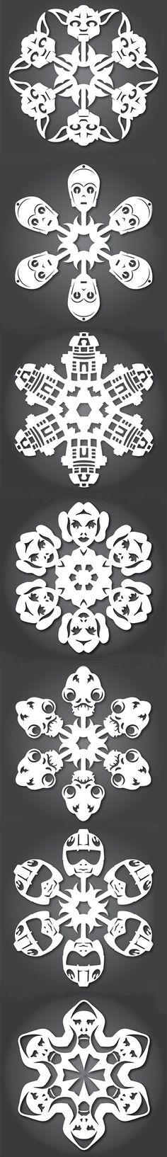 5) Ready for your very own Hoth winter wonderland?  Transform your home into the snowy plains of Hoth with these outrageously cute Star Wars Snowflakes.  This one's a little more complex than some of the other videos on the list, so be sure to watch this video tutorial first: