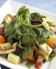 Roasted Kabocha Squash and Arugula Salad with Toasted Hazelnuts  www.partiesthatcook.com
