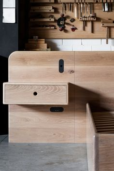 Flush, Trimless and Recessed Outlets & Switches Recessed Outlets, Oak Beds, Bed Head, Storage Drawers, Door Handles, Furniture Design, Minimalist, Interior, Projects