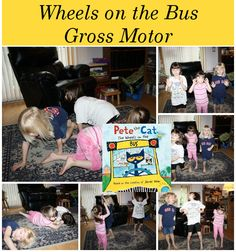 Wheels on the Bus Gross Motor! - 3Dinosaurs.com