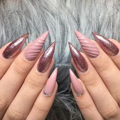 RoseGold PinkUNICORN NAILS❤