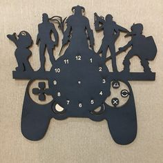 Wooden wall clock Fortnite Vinyl Record Crafts, Vinyl Records, Clock, Kids Rugs, Wall, Home Decor, Wood, Watch, Decoration Home