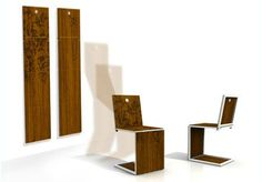 a good dinning table chair should become wall art when not in use