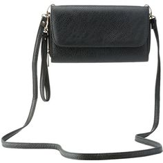 Charlotte Russe Detachable Strap Crossbody Bag ($16) ❤ liked on Polyvore featuring bags, handbags, shoulder bags, black, black handbags, coin pouch, zipper coin purse, crossbody purse and zip pouch