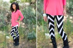 Chevron Print Leggings 48% off | Find this deal and more unbelievable daily deals at www.groopdealz.com