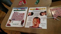 Our Home Alone movie party decor #homealone #battleplan #kevinmccallister #yafilthyanimal