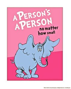 theodor-dr-seuss-geisel-horton-hears-a-who-a-person-s-a-person-on-pink | Flickr - Photo Sharing!