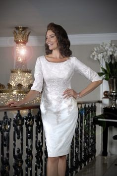 Occasion collection by Ian Stuart for the discerning mother of the groom / mother of the bride. Stand out from the crowd with a beautiful Ian Stuart dress. Ivory Dresses, Elegant Dresses, Dresses With Sleeves, Bride Dresses, Short Wedding Guest Dresses, Wedding Dress, Short Fitted Dress, Ian Stuart, Cherry Dress
