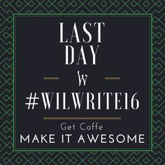 Good morning! It's the last day of the 2016 Willamette Writers Conference. Get some coffee and make it awesome!