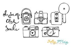 Camera Photoshop Brush - Camera Digital Stamp - Photography Clip Art - Hand Drawn Camera - Photoshop Brushes - Camera Outlines         December 29, 2014 at 09:03PM