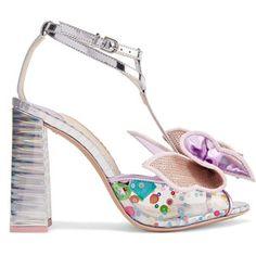 Sophia Webster Lana embellished PVC and metallic leather sandals