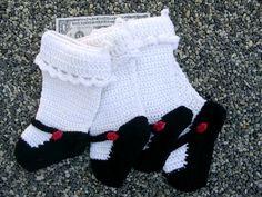 Crochet Mary Janes - Hookey