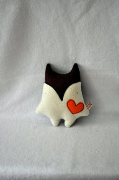 Little Fox with a Big Heart by kleja on Etsy, $30.00