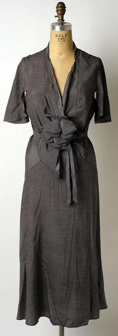 Mainbocher Dress - 1932 - by Mainbocher (American, 1890-1976) - Silk - @~ Watsonette