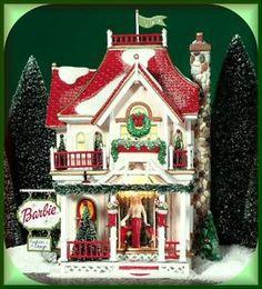 Barbie Boutique -UTube NEW Department Dept. 56 North Pole Village D56 NP